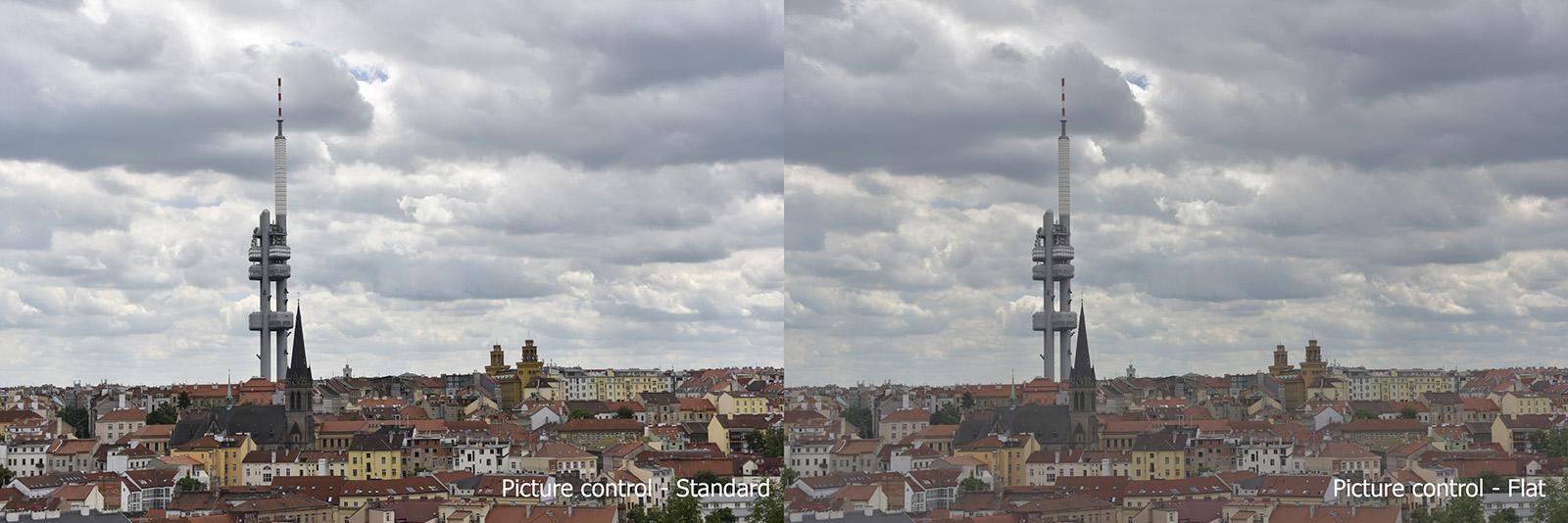 Nikon D810 Picture Control, Standard x Flat
